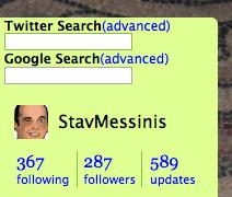screenshot of twitter search addin